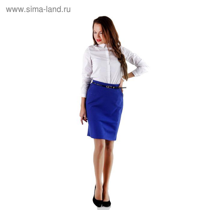 Юбка женская, размер 50, рост 170, цвет синий (арт. 459 С+)