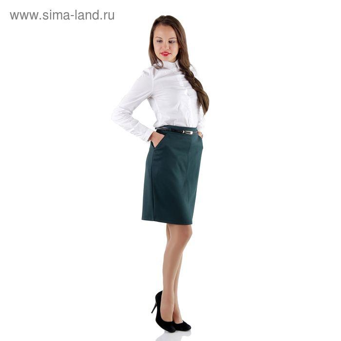 Юбка женская, размер 50, рост 170, цвет зелёный (арт. 486 С+)