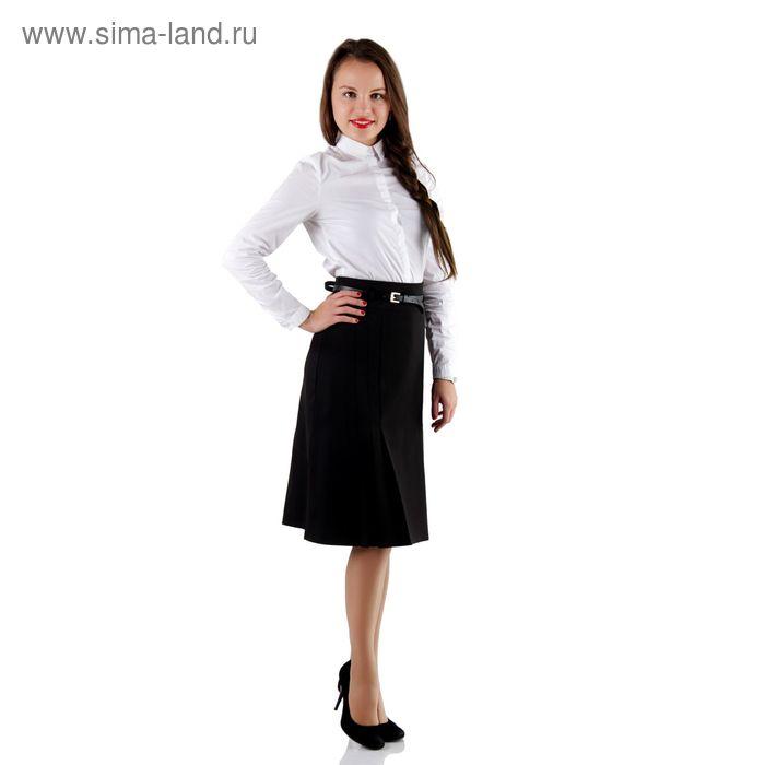 Юбка женская, размер 50, рост 170, цвет чёрный (арт. 449 С+)