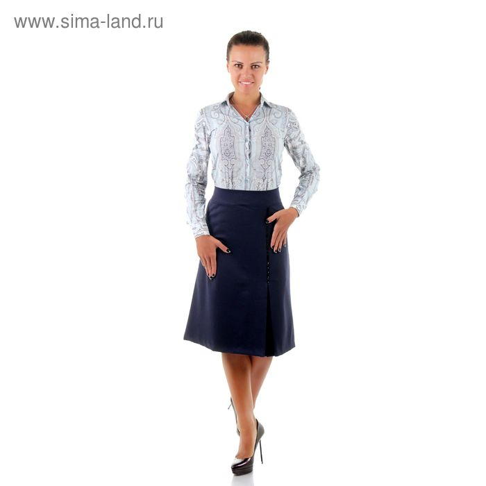 Юбка женская 450 С+, размер 58, рост 170, цвет синий
