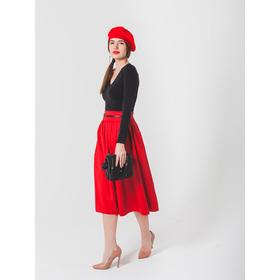 Юбка женская 455, размер 42, рост 170, цвет красный