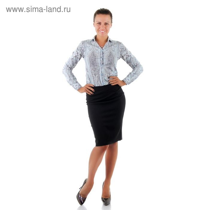 Юбка женская, размер 54, рост 170, цвет чёрный (арт. 001Б С+)