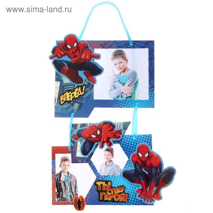 """Фоторамка для декорирования """"Супергерой"""", Человек-Паук, в наборе 2 шт + декор"""