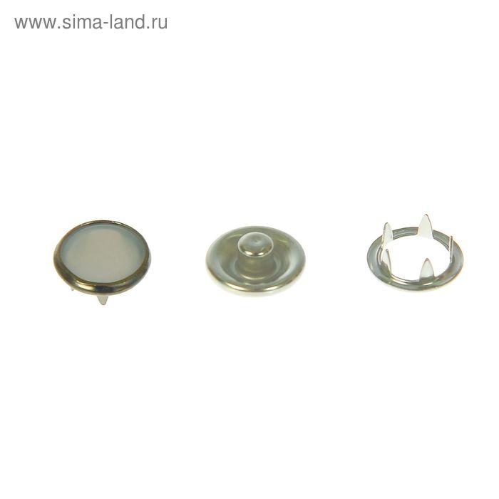 Кнопки рубашечные с перламутровой накладкой, 1шт, d=9,5мм, цвет серебристый