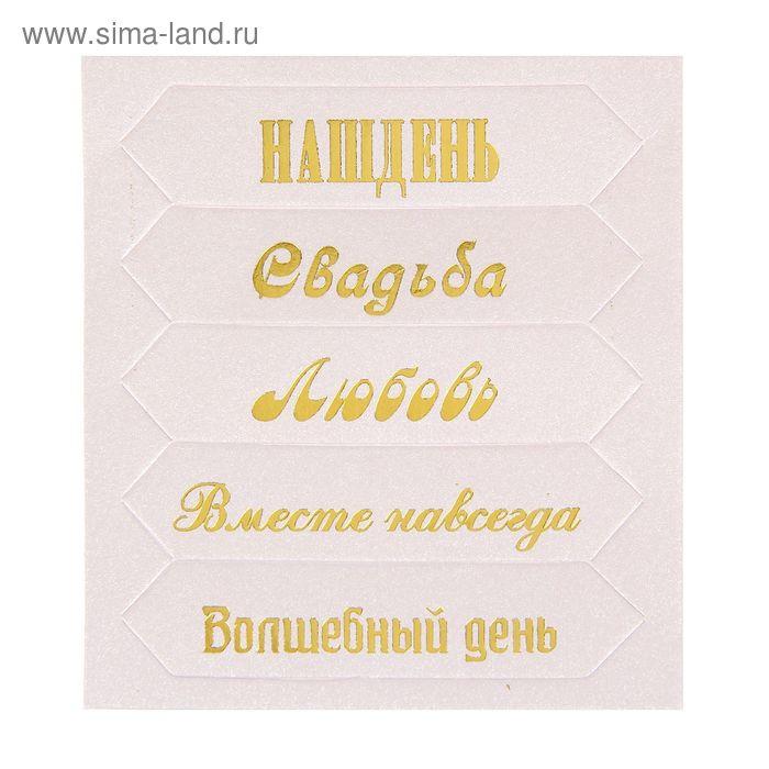 """Чипборд для скрапбукинга """"Наш день"""", 6,5 х 7,5 см"""