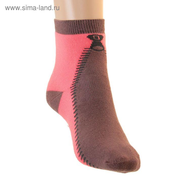 Носки детские плюшевые, размер 18-20, цвет коралл ПФС102-2540