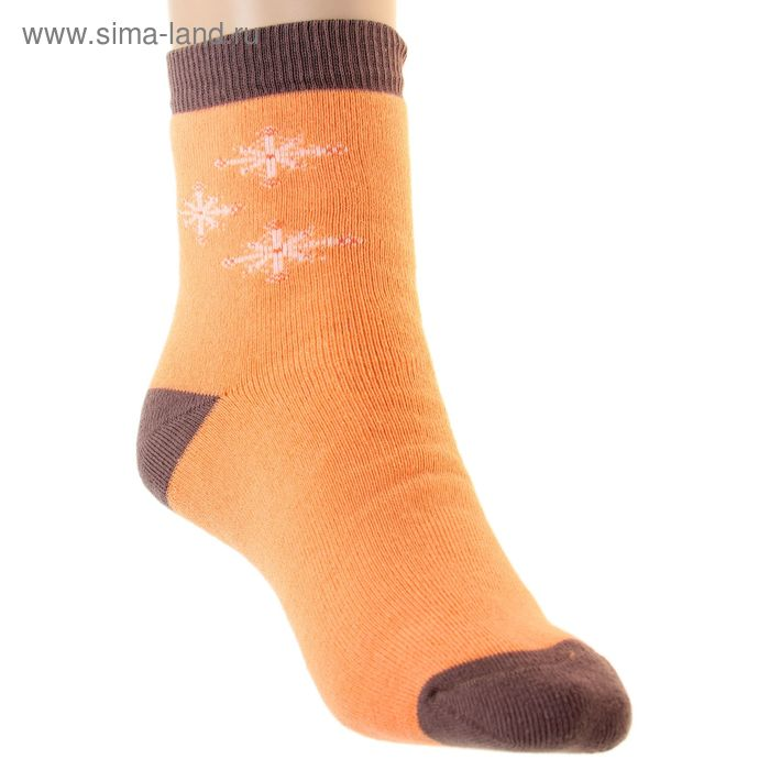 Носки детские плюшевые, размер 20-22, цвет персик ПФС102-2548