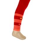 Легинсы детские плюшевые ПЛС16, цвет красный, рост 74-80 см