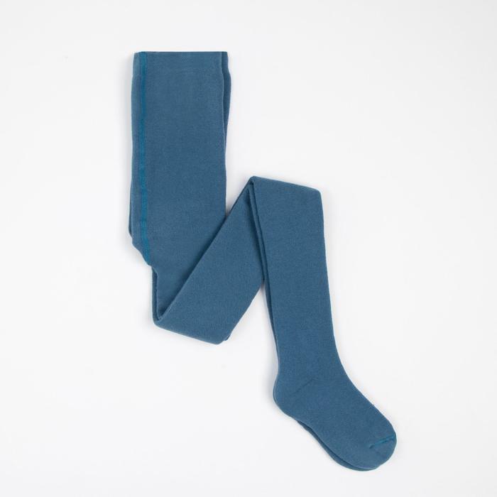 Колготки детские плюшевые, рост 116-122 см, цвет джинс ПФС70