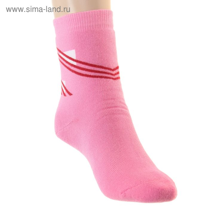 Носки детские плюшевые ПФС102-1757, цвет розовый, р-р 22-24
