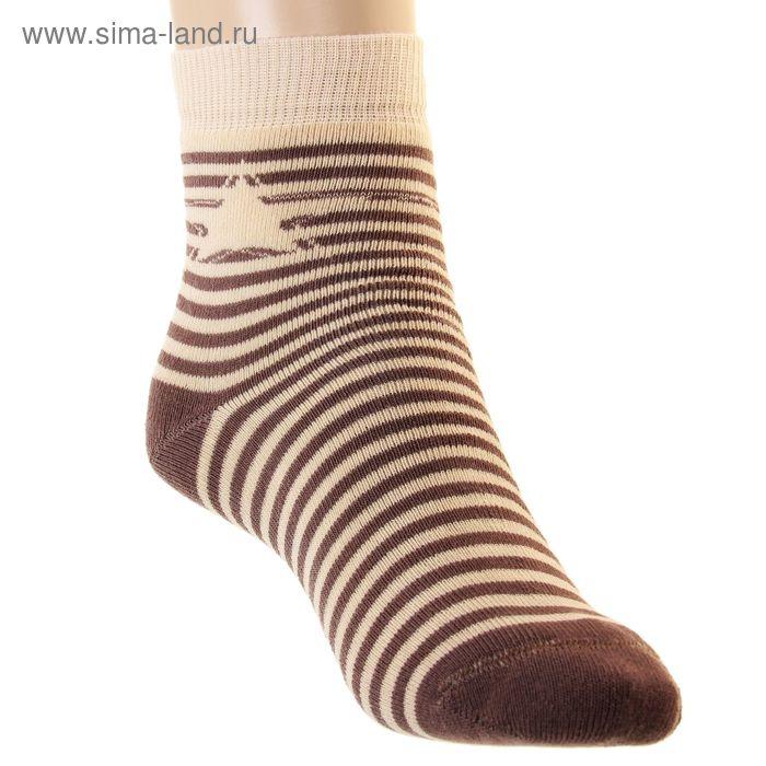 Носки детские плюшевые, размер 20-22, цвет капучино ПФС102-2538