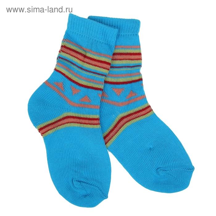 Носки детские, размер 12, цвет бирюза ЛС46