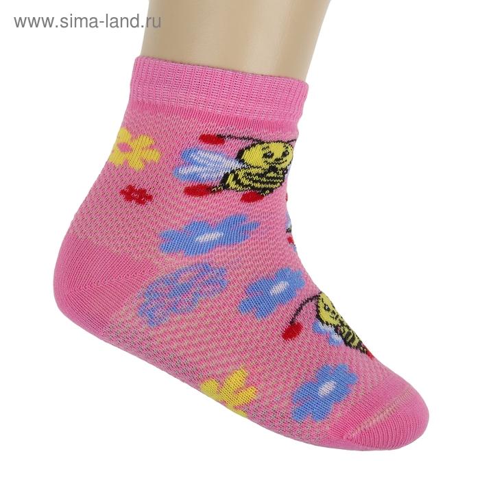 Носки детские НДД2-2166, цвет розовый, р-р 12-14