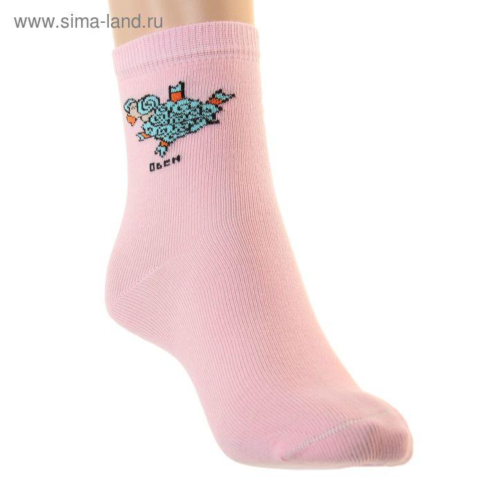 "Носки детские ""Овен"", размер 20-22, цвет светло-розовый НД4"