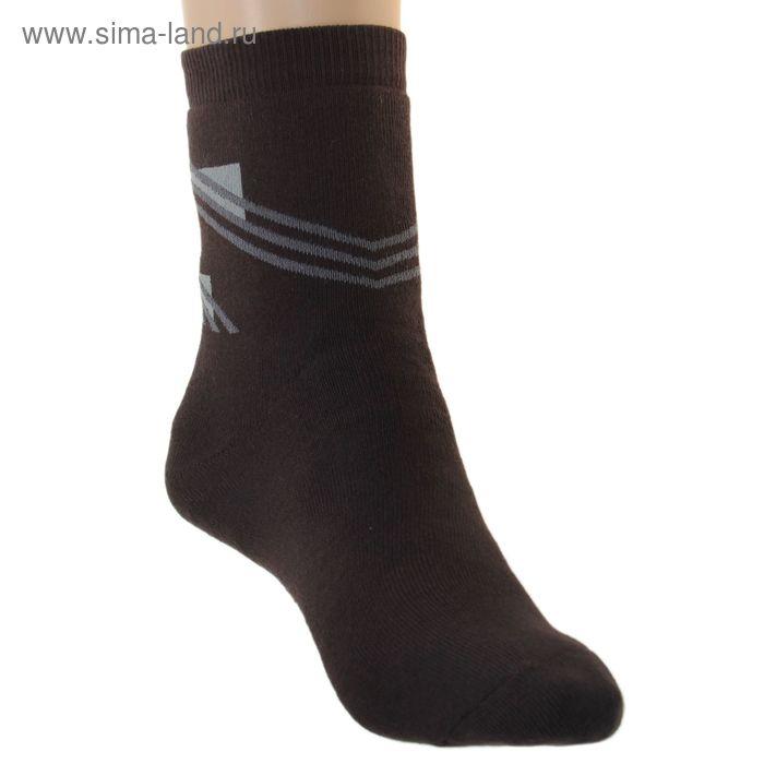 Носки детские плюшевые, размер 22-24, цвет темно-коричневый ПФС102-1757