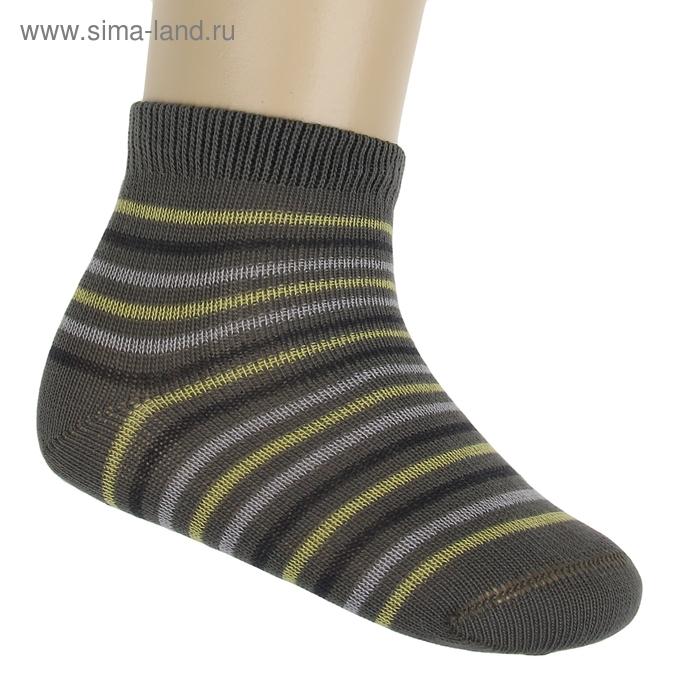 Носки детские ЛС46-2569, цвет темно-оливковый, р-р 14