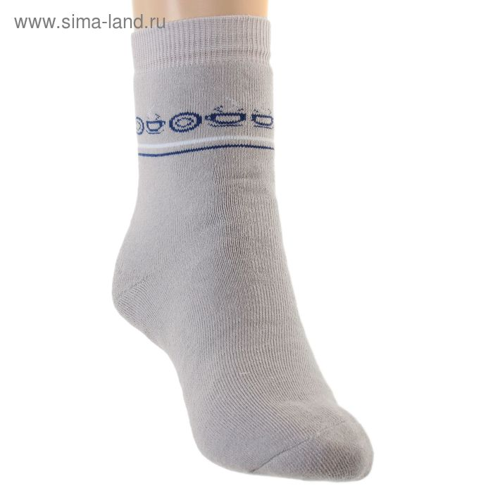 Носки детские плюшевые, размер 22-24, цвет светло-серый ПФС102-2133