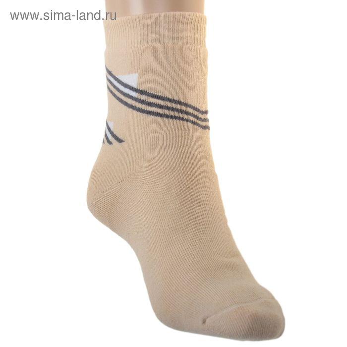 Носки детские плюшевые, размер 22-24, цвет светло-бежевый ПФС102-1757