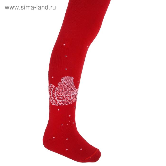 Колготки детские плюшевые, рост 104-110 см, цвет красный ПФС70-2474