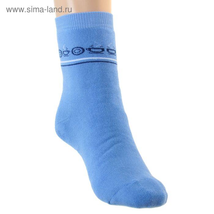 Носки детские плюшевые ПФС102-2133, цвет голубой, р-р 22-24