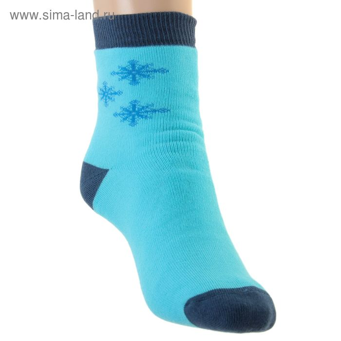 Носки детские плюшевые, размер 20-22, цвет светлая бирюза ПФС102-2548