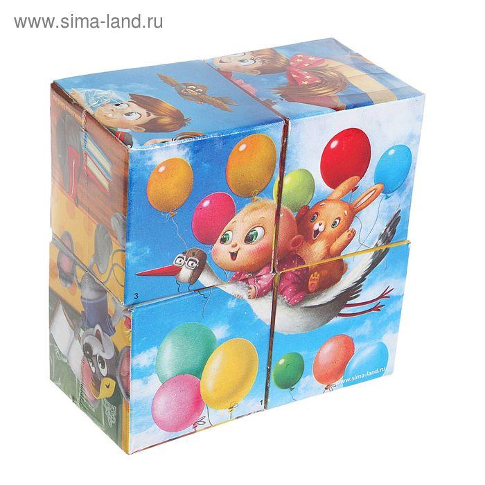 """Кубики """"Веселые картинки"""" 4 элемента (картон)"""