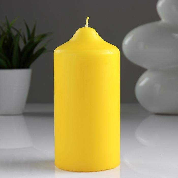 Свеча классическая 7х15 см, желтая