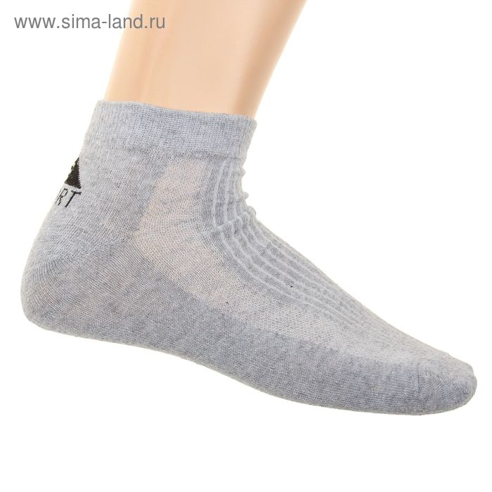 Носки мужские спортивные L-361, цвет серый, размер 29-31