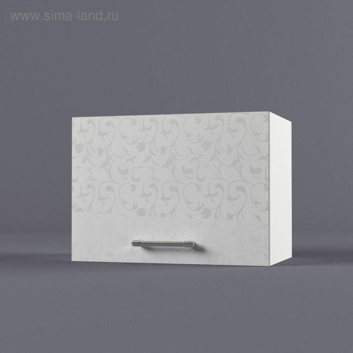 Шкаф навесной 360*500*300 Белые цветы