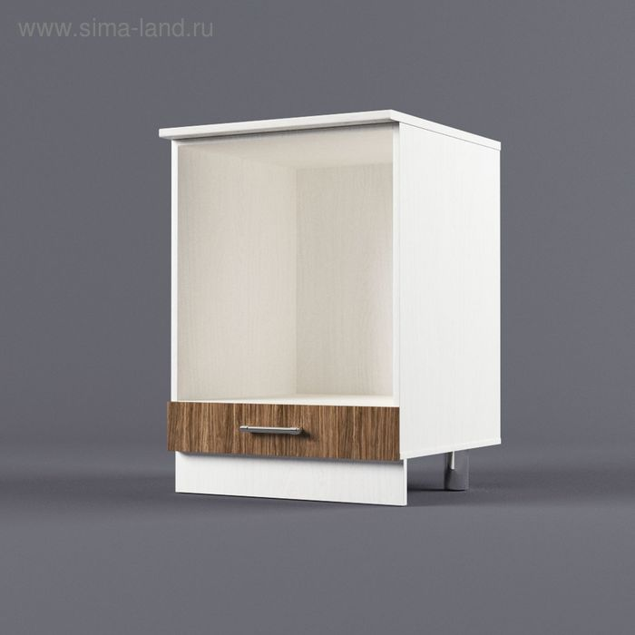 Шкаф напольный под встроенную технику 850*600*600 Шимо темный
