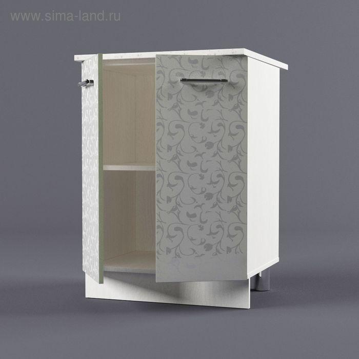 Шкаф напольный 850*600*600 Белые цветы