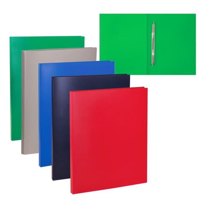 Папка с боковым пружинным скоросшивателем А4 350мкм iOffice, черная