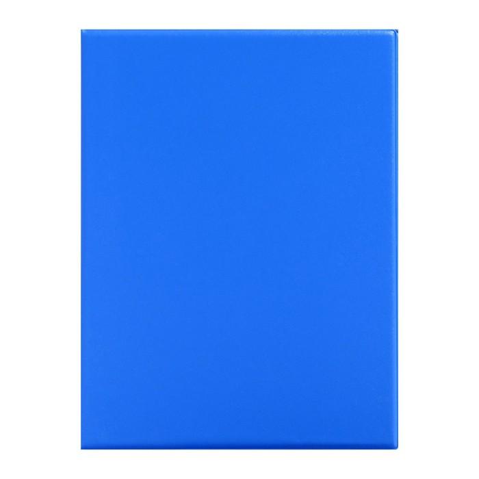 Тетрадь на кольцах А5, 80 листов клетка, обложка ПВХ синяя
