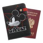 """Обложка для паспорта на заклепе """"Mickey"""", Микки Маус"""