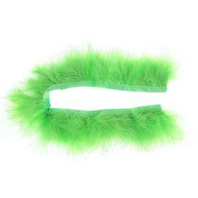 Лента перьев для декора, размер 1 шт 50*6 цвет салатовый