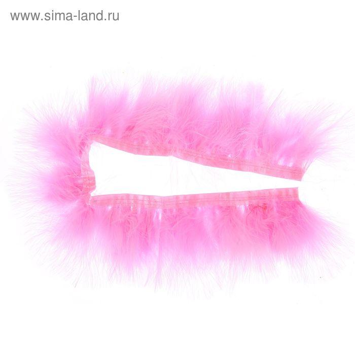Лента перьев для декора, размер 1 шт 50*6 цвет розовый