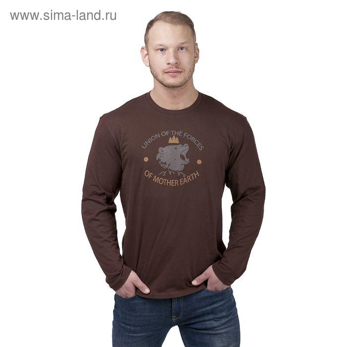 Джемпер мужской, цвет коричневый, размер 48 (арт. 20467П-28021)