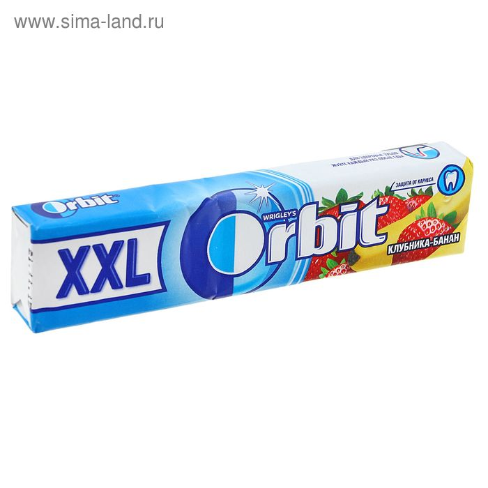 "Жевательная резинка Orbit XXL ""Клубника-банан"" 20.4 г"
