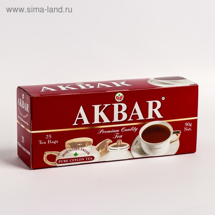 Чай черный Akbar, байховый, 25 пакетиков*2 г