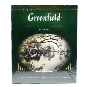 Чай черный Greenfield Earl Grey Fantasy, бергамот, 100 пакетиков*2 г