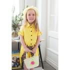 Набор сумочка и шляпка с цветочком, цвет желтый, р-р 50-52 см, 3-5 лет
