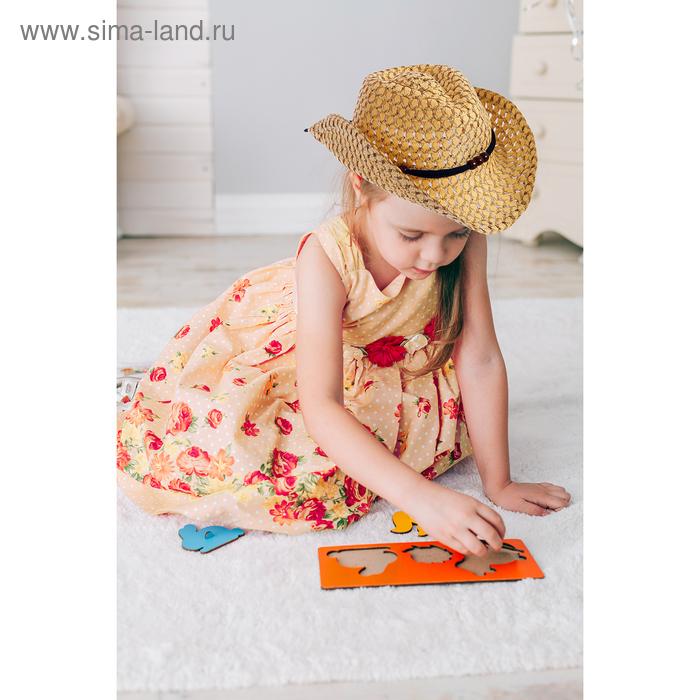 """Шляпа детская """"Ковбой"""", цвет бежевый, р-р 50-52 см, 3-5 лет"""