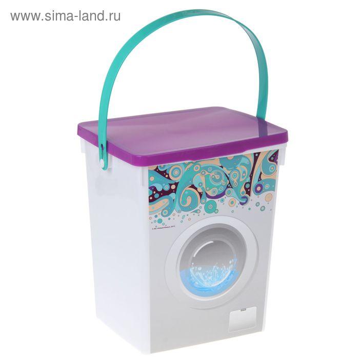 """Контейнер для стирального порошка 8,5 л """"Домашний"""", цвет МИКС"""