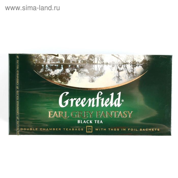 Чай черный Greenfield Earl Grey Fantasy, бергамот, 25 пакетиков*2 г