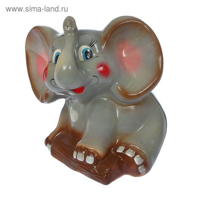 """Копилка """"Слон"""" глянец, серая"""