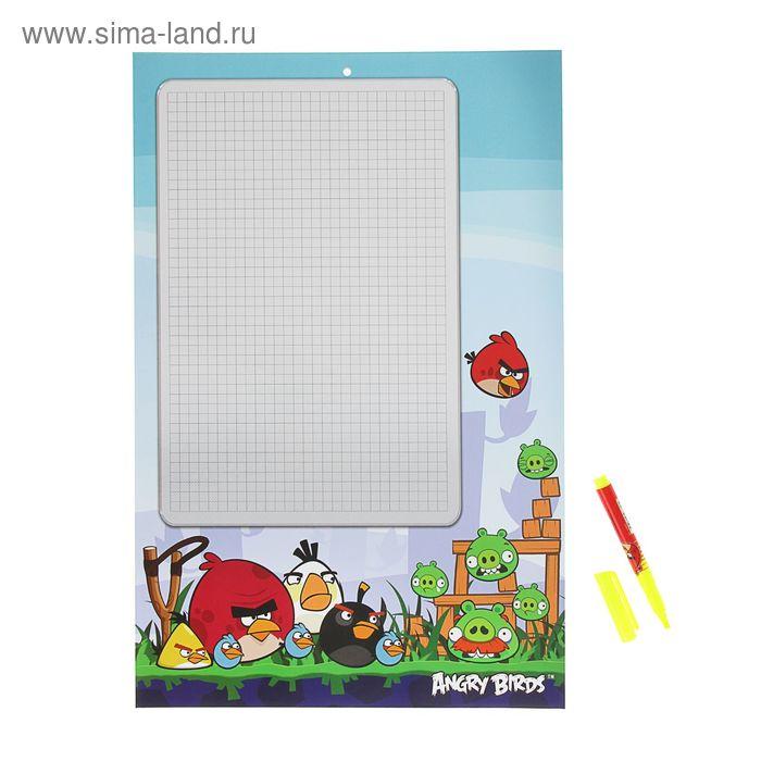 Доска маркерная А3, +маркер Angry Birds