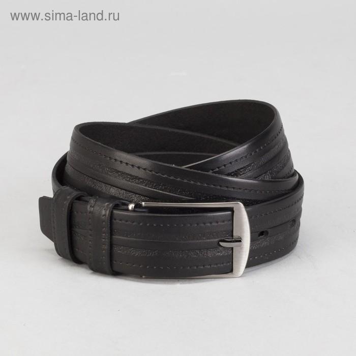 Ремень мужской, винт, пряжка под металл, МИКС, ширина - 3,5см, чёрный