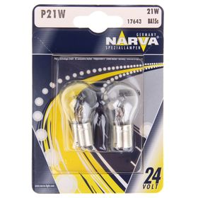 Лампа автомобильная Narva Stop lamps, P21W, 24 В, 21 Вт, набор 2 шт