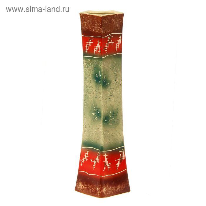 """Ваза напольная """"Айсберг"""" рельеф, коричнево-зелёная, микс"""