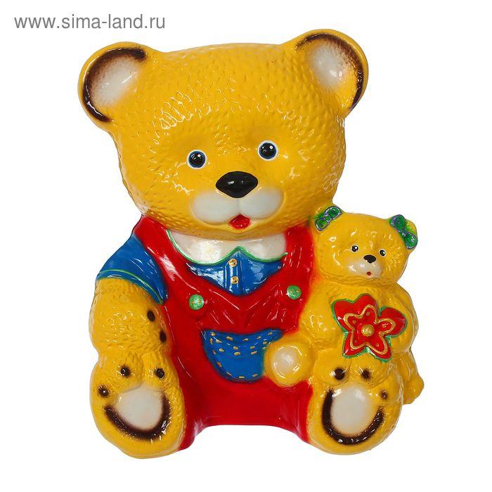 """Копилка """"Медведь с медвежонком"""" глянец, микс"""